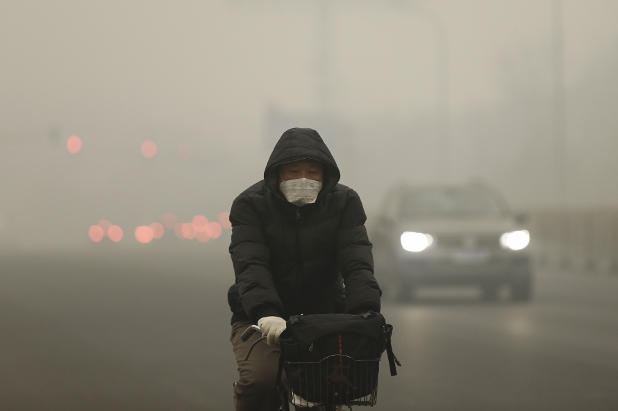 Beijing Blanketed In Heavy Smog